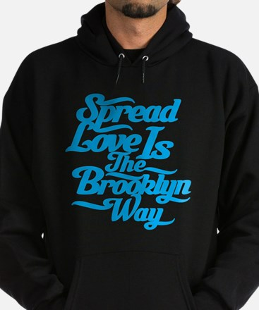 Brooklyn Love Blue Hoodie (dark)