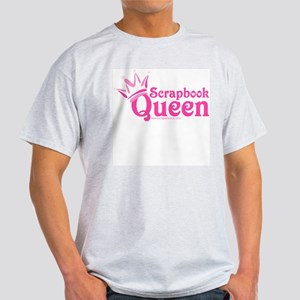 Scrapbook Queen - Pink Ash Grey T-Shirt