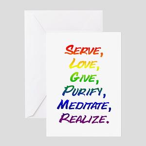 Mantra Greeting Card