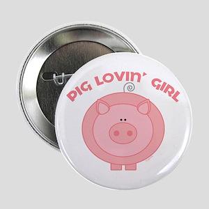 Pig girl Button