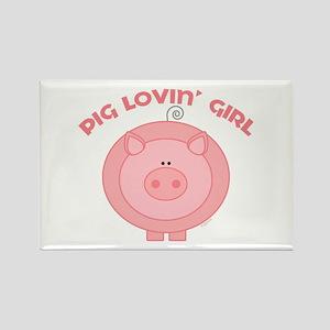 Pig girl Rectangle Magnet