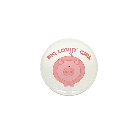 Pig girl Mini Button