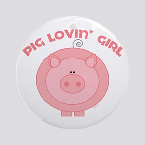 Pig girl Ornament (Round)