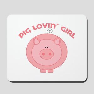 Pig girl Mousepad