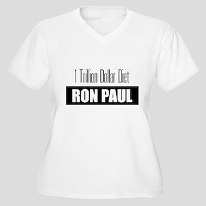 1 Trillion Dollar Diet - Ron Women's Plus Size V-N