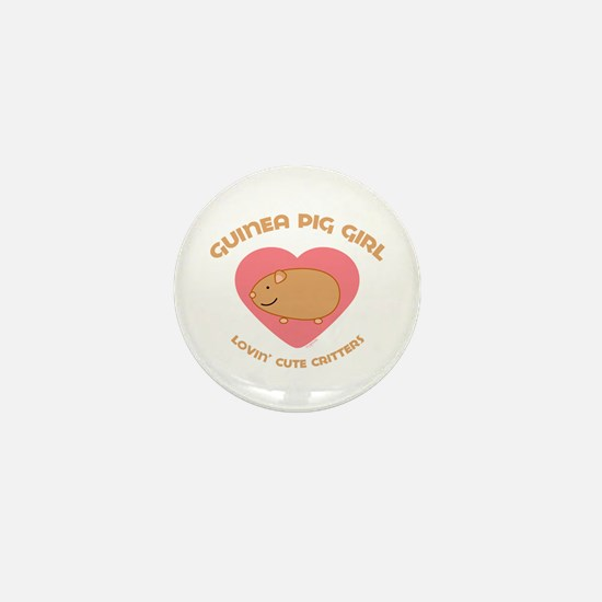 Guinea Pig girl Mini Button