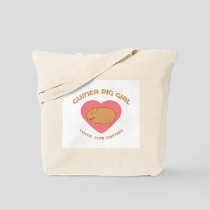 Guinea Pig girl Tote Bag