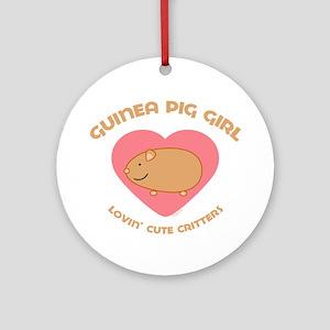 Guinea Pig girl Ornament (Round)