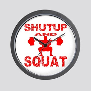 Shut Up And Squat Wall Clock