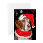 Brittany Spaniel Christmas Cards (Pk of 10)