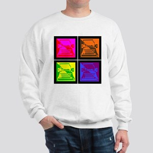 Vivid Pop Art Typewriter Sweatshirt