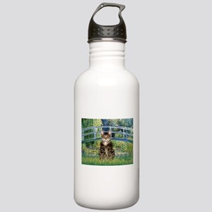 Bridge / Brown tabby cat Stainless Water Bottle 1.