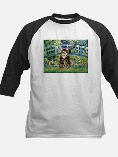 Bridge / Brown tabby cat Kids Baseball Jersey