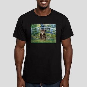 Bridge / Brown tabby cat Men's Fitted T-Shirt (dar