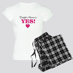 """""""Answer is YES"""" Women's Pajamas"""