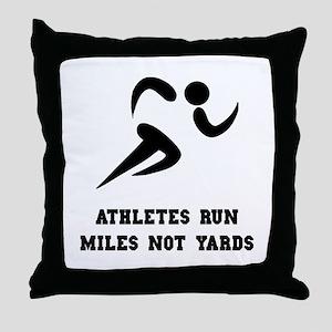 Run Miles Throw Pillow