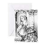 Alice & the Footman Greeting Cards (Pk of 20)