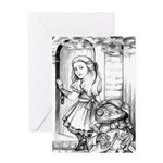 Alice & the Footman Greeting Card