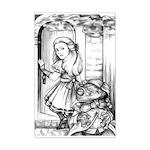 Alice & the Footman Mini Poster Print