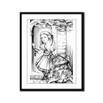 Alice & the Footman Framed Panel Print