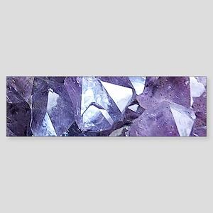 Amethyst Crystal Cluster Bumper Sticker