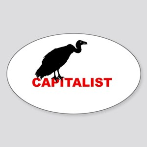 vulture capitalist Sticker (Oval)