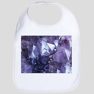 Amethyst Crystal Cluster Baby Bib