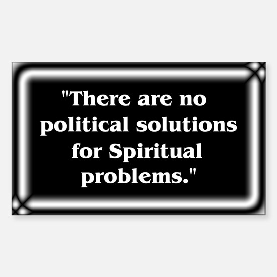 Spiritual Problems - Sticker (Rectangle)