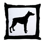 Doberman Pinscher Silhouette Throw Pillow