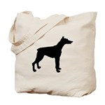 Doberman Pinscher Silhouette Tote Bag