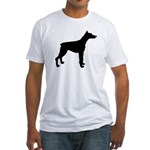 Doberman Pinscher Silhouette Fitted T-Shirt