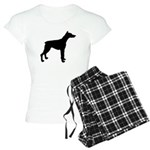 Doberman Pinscher Silhouette Women's Light Pajamas