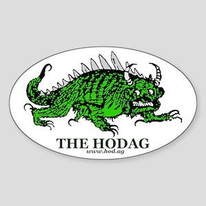 Rhinelander Hodag Oval Sticker
