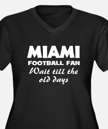 Miama football old days Women's Plus Size V-Neck D