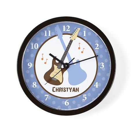 Rock and Roll Guitar Wall Clock - Christyan