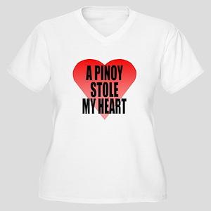Pinoy Stole My Heart Women's Plus Size V-Neck T-Sh