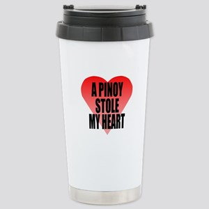 Pinoy Stole My Heart Stainless Steel Travel Mug