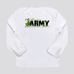 Grandson Combat Boots - ARMY Long Sleeve Infant T-