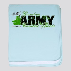 Grandson Combat Boots - ARMY baby blanket