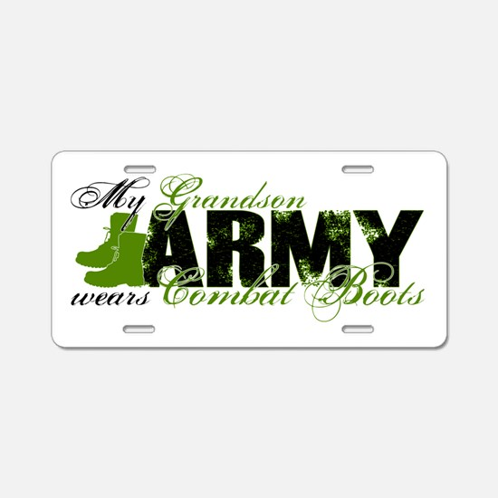 Grandson Combat Boots - ARMY Aluminum License Plat