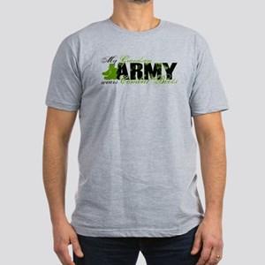 Grandson Combat Boots - ARMY Men's Fitted T-Shirt
