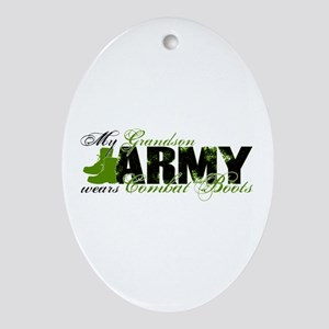 Grandson Combat Boots - ARMY Ornament (Oval)