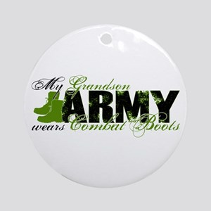Grandson Combat Boots - ARMY Ornament (Round)