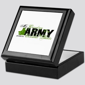 Grandson Combat Boots - ARMY Keepsake Box