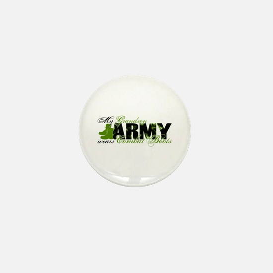 Grandson Combat Boots - ARMY Mini Button