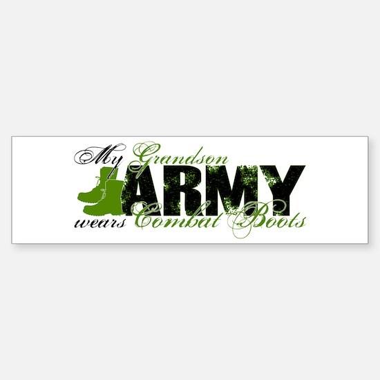 Grandson Combat Boots - ARMY Sticker (Bumper)