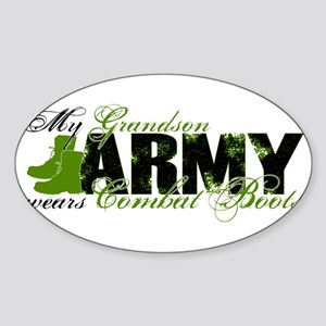 Grandson Combat Boots - ARMY Sticker (Oval)