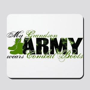 Grandson Combat Boots - ARMY Mousepad