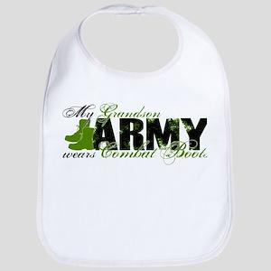 Grandson Combat Boots - ARMY Bib