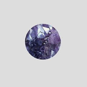 Amethyst Crystal Cluster Mini Button